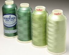 Marathon Viscose Rayon Embroidery machine thread: Shade Pack:  Greens 1,000m x 4