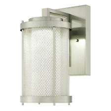Westinghouse Outdoor Wall Light Skyview, Led-Nickel Brushed with Grid and Glass