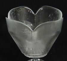 "VINTAGE 50's LARGE SCANDINAVIAN BLOWN TULIP GLASS BOWL ~ 8"""