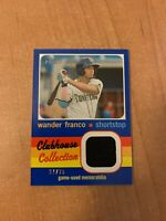 2020 Topps Heritage Minor League - Wander Franco Blue Clubhouse Relic #d 97/99