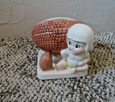 """Vintage"""" Inarco"""" Little Guy Ready to Play Football Planter Baby Decor   Mint!"""