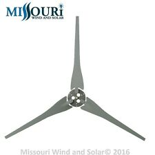 3 Raptor Generation 4 Gray Wind Turbine Generator Blades & Hub Made in the USA