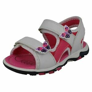 Spot On H0R318 Girls White Sandals with Butterfly Detail (R5A)