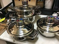 New listing Set of Four Vgc Swiss Zurich Solingen Saucepans - Sell for Charity