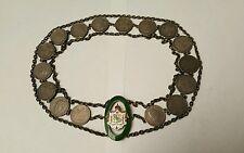 1883 Kalakaua I King of Hawaii 25 cent w/ Enamel Coat of Arms Hatband/Belt RARE