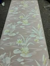 Vintage wallpaper flowers in light water look pink background. Yes its pink