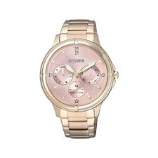 Citizen Analog Casual Watch Eco-drive Gold Ladies Fd2033-52w
