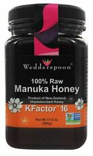 Wedderspoon Organic - 100% Raw Manuka Honey  KFactor 16 - 17.6 oz