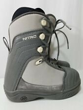 Nitro Tangent Womens Grey Lace Up Snowboarding Boots Size 6.5