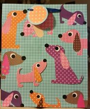 3-D All Occasion Dachshund Doxie Sausage Dog Puppy Gift Bag Polka Dot & Patterns