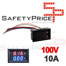 Voltimetro Amperimetro 100V 10A Digital DC Rojo Azul voltmeter Panel SP