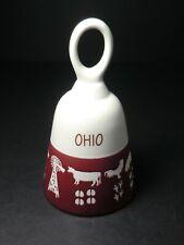 Ohio Porcelain Bell - animals with tracks - Farm Scene