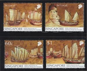 SINGAPORE 2005 600TH ANNIV. ZHENG HE VOYAGES SET OF 4 STAMPS SC#1146-1149 MINT