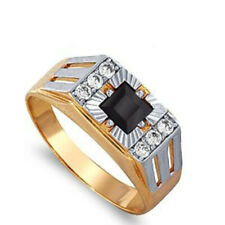 585/14 Ct Rose Gold Men's ring with Cubic Zircon
