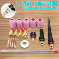 21Pcs TIG Welding Torch Stubby Gas Lens Kit For Tig WP-17//18//26 Series WT20