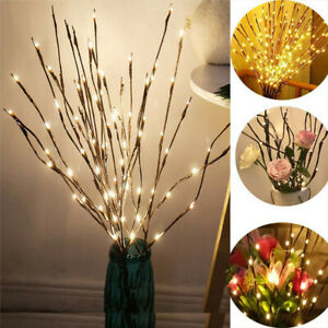 20LED Romantic Twigs Night Lights Desk Branch Decor Home Party Fairy Twig Lamp
