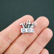 4 Tool Box Charms Antique Silver Tone - SC4913