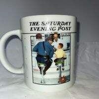 "Norman Rockwell Coffee Cup Mug  ""The Runaway"" Saturday Evening Post 1992 Vin"