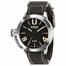 U-Boat Classico U-47 AS 2 Stainless Steel Black Dial 47mm Automatic Watch 8105