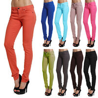 TheMogan Colored Wash Low Rise Stretch Skinny Jeans Slim Fit Denim Pants