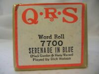 SERENADE IN BLUE Q.R.S. PLAYER PIANO ROLL 7700 BY RUDY MARTIN (MACK GORDON HARRY