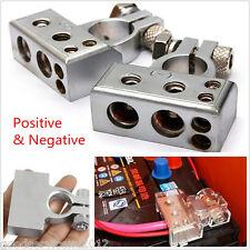 2 Pcs 12V Metal Positve&Negative Car Trucks Battery Terminal Clamp Connector Kit