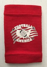 NEW Football America youth play call sleeve, wrist coach, red (scarlet)