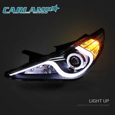 LED Headlights For 2011-2014 Hyundai Sonata YF DRL Projector Lamps One Pair