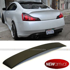 Fit 08-13 G37 Coupe 2dr Unpainted Primer Black Rear Roof Wing Wide Spoiler
