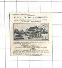 1935 Charming Bungalow, Gladwish, Harrietsham, Five Bedrooms 14 Acres For Sale