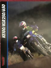 KAWASAKI KE 100 KLR 250 650 1993 prospectus brochure US