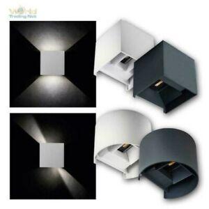 LED Außen-Wand-Leuchten, 7W 230V IP54, up/down Winkel einstellbar, 4000K neutral