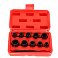 11pcs 16-27mm Damaged Nut and Lock Remover Twist Socket Set Screw Extractor Tool