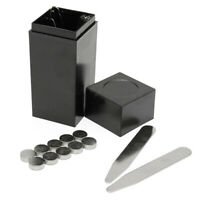 21Pcs Men Shirt Magnetic Stainless Steel Metal Collar Stays with Coated I+ Box !