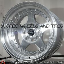 15x9 Rota KYUSHA 4x100 -15 Full Royal Silver Wheels (Set of 4)