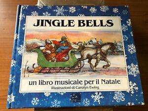 JINGLE BELLS libro MUSICALE Mondadori 1990 animato pop up 3D Ewing illustrato