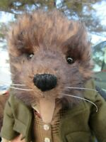 VINTAGE MOHAIR TEDDY BEAR ANIMAL DRESSED DOLL ARTIST MICHELE BROWN COLLECTABLES