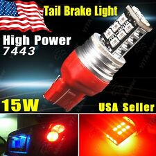 1 X HID Red 7443 15W SMD High Power Tail Brake Parking LED Car Light Bulb 7444NA