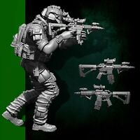 1/35 YUFAN Resin Soldier US Seal Assauit Team Figure Model Set DIY Assembly Kits