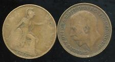 GREAT BRITAIN  one penny  1915   ( etat )