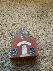 Brick Newlyweds New Home cottage/ Painted door stop bookend personalize