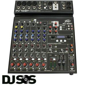 Peavey Mixer PV10BT Bluetooth Digital 4 Channel PA Mixing Desk Console PV 10 BT