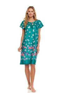 7000 Women Nightgown Short Sleeve Sleepwear Pajamas Woman Sleep Nightshirt