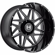 4 New Hostile H108 Sprocket Wheels 20x10 Black Milled Hostile Off road Sprocket