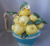 Blue Sky Clayworks Ceramic Orange Teapot Heather Goldminc  Oranges and Leaves