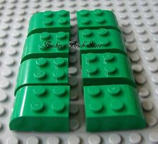 LEGO Lot of 8 Green Brick 2 x 3 Curved Top