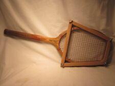 vintage Marathon Ace antique tennis racquet racket wooden wood w/  straightener