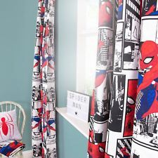 "SPIDERMAN METROPOLIS READYMADE CURTAINS BEDROOM BOYS 54"" DROP"