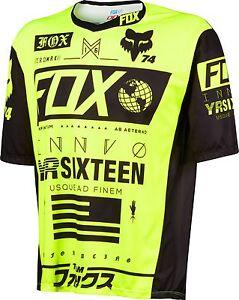 Fox Racing Demo Union s/s Jersey Flo Yellow