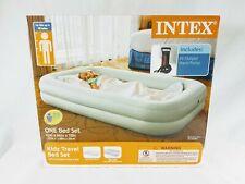"NEW INTEX Kidz Travel Bed Set 42""x 66""x 10"" With Hand Pump"